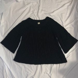 Black flare sleeved swing sweater